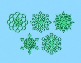 3D printable model Rounded snowflakes