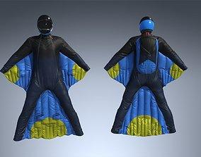 3D asset Wingsuit Skydiving PBR