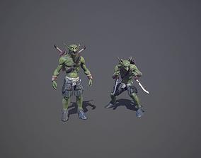 3D asset Goblin with daggers