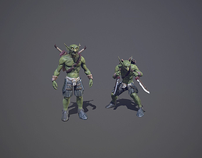3D asset Goblin with daggers