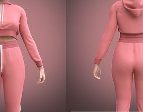 3D model figure FEMALE TRACKSUIT
