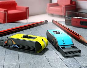 USB Pendrive model 3D asset