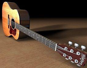 3D Washburn D10 Acoustic Guitar