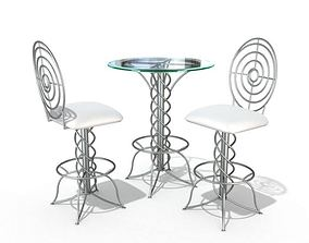 3D Modern Bistro Table Set