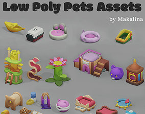 3D model Stylized Low Poly Pets Assets Pack