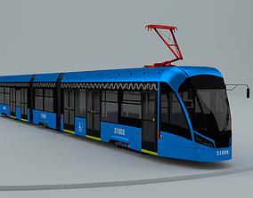 Tram tramway troll trolleybus bus 3D model