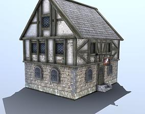 Medieval Tudor Tavern 3D model