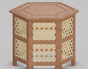 3D Hexagonal ornate Moroccan table
