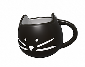 3D Black cat cup
