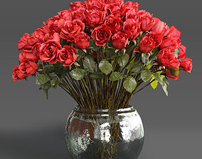 3D Bouquet of red roses