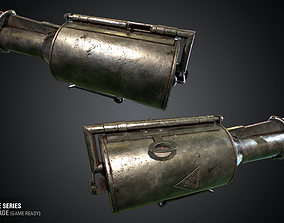 M1917 Gas Grenade - WWI Grenade Series Game Ready 3D model