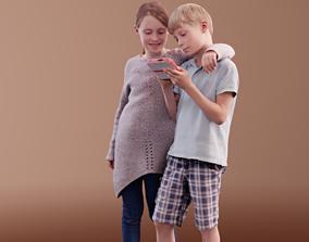 Mara and Leo 10192 - Casual Kids 3D model