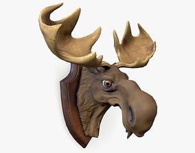 3D model Stylized Moose Head Trophy