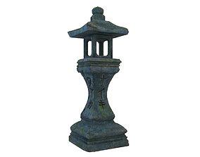3D Japanese Stone Lantern