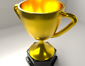 award 3D model Gold Trophy