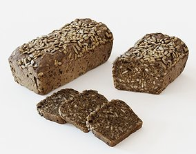 Seeded bread 3D
