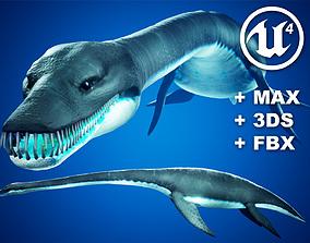 Plesiosaur Elasmosaurus - with UE4 Support 3D asset