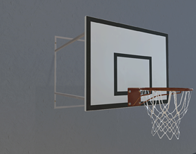 3D model Basketball hoop with shield