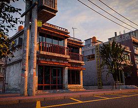 BUILDING URBAN AREA HONGKONG JAPAN CHINA ASIAN 3D asset
