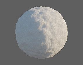 Snow material white 3D