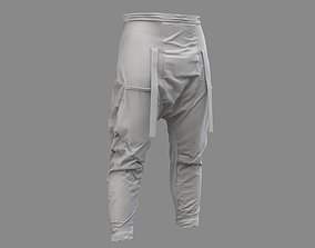 3D model Cyberpunk Pants - Marvelous Designer