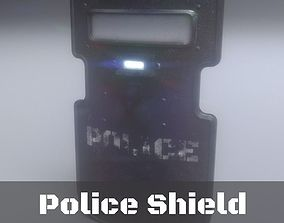 low-poly Police Shield low-poly 3D model