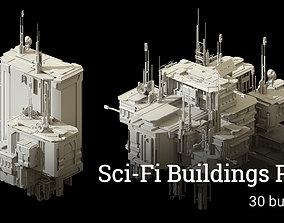 Sci-Fi Buildings Pack - 30 Buildings 3D model