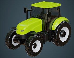 3D model Tractor 1 Untextured