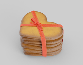 3D Valentine ginger bread cookies gift with 4k realtime 1