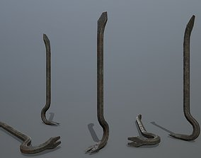 Crowbar industry 3D asset low-poly