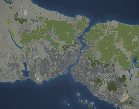 3D model Istanbul Metropolitan Area