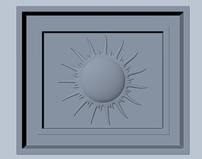 Sunburst Square Wood Detail 3D model