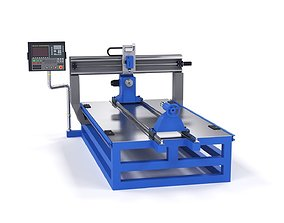 Milling machine cnc 3d model working