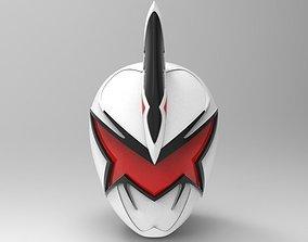 White Ranger Helmet from Dino Thunder for 3D