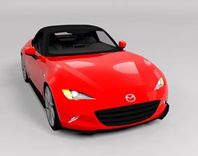 MAZDA MX5 2016 LOWPOLY 3D asset VR / AR ready