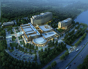 Hospital 001 3D model