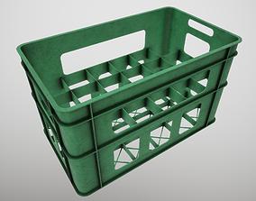 3D asset Plastic Bottle Crate x24
