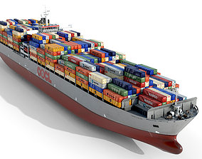 3D asset Container ship OOCL