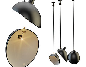 3D model Serge Mouille lamp
