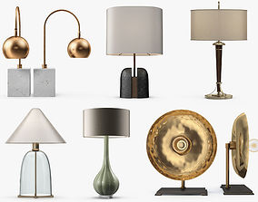 6 table lamps 3D
