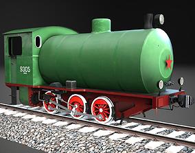Industrial steam tank locomotive NF-9305 3D asset
