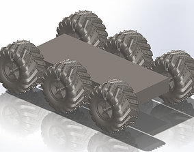 mechatronics 6 wheel printable terrain robot