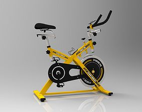 Stationary Spinning Bike fitness 3D