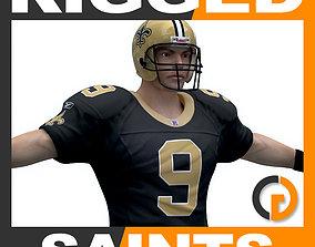 NFL Player New Orleans Saints - Rigged league 3D