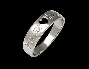forever love ring 3D print model