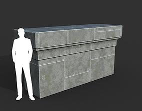 3D asset Low poly Ancient Roman Ruin Construction R7 - 1