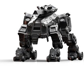 3D printable model CRH-202 Crazy Horse Mech