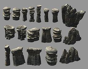 Terrain-Mountain-Stone Mountain 0767 3D