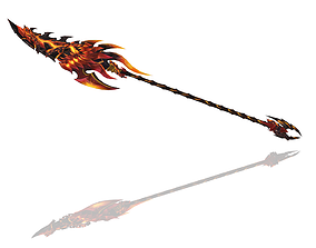 3D asset game-ready Infernal Spear