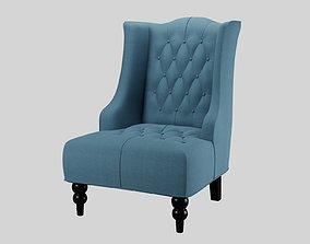 Fabric Club Chair Subdiv Ready 3D model